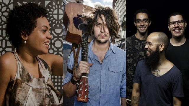 Aninha Martins, Tagore e a banda Kalouv serão algumas das atrações. Foto: Renata Pires, Beto Figueiroa e Kalouv/Divulgação