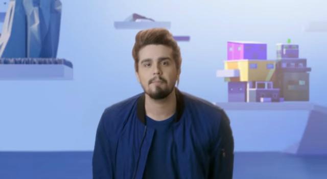Cantor é o representante brasileiro no projeto da multinacional. Foto: YouTube/Reprodução