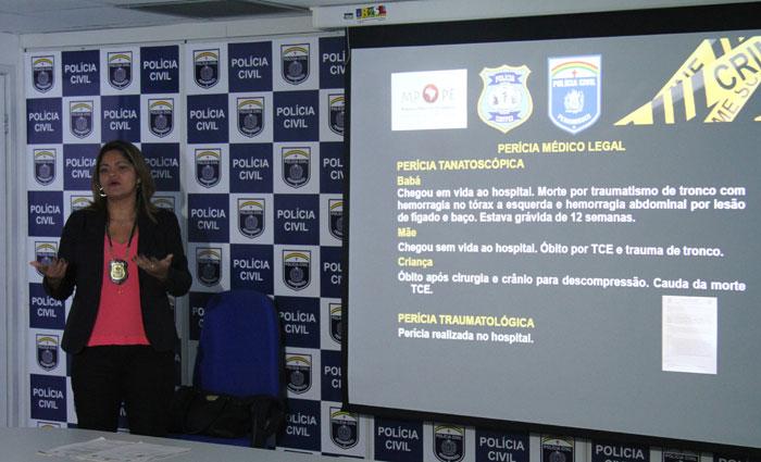 A perita Sandra Santos apresentou os detalhes do acidente ocorrido no dia 26 na Tamarineira. Foto: Marlon Diego/Esp. DP