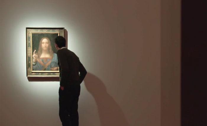 """""""Salvador do Mundo"""" é considerado um dos 20 quadros, aproximadamente, que Da Vinci pintou, segundo a casa de leilões Christie's. Foto: christies.com/Reprodução"""