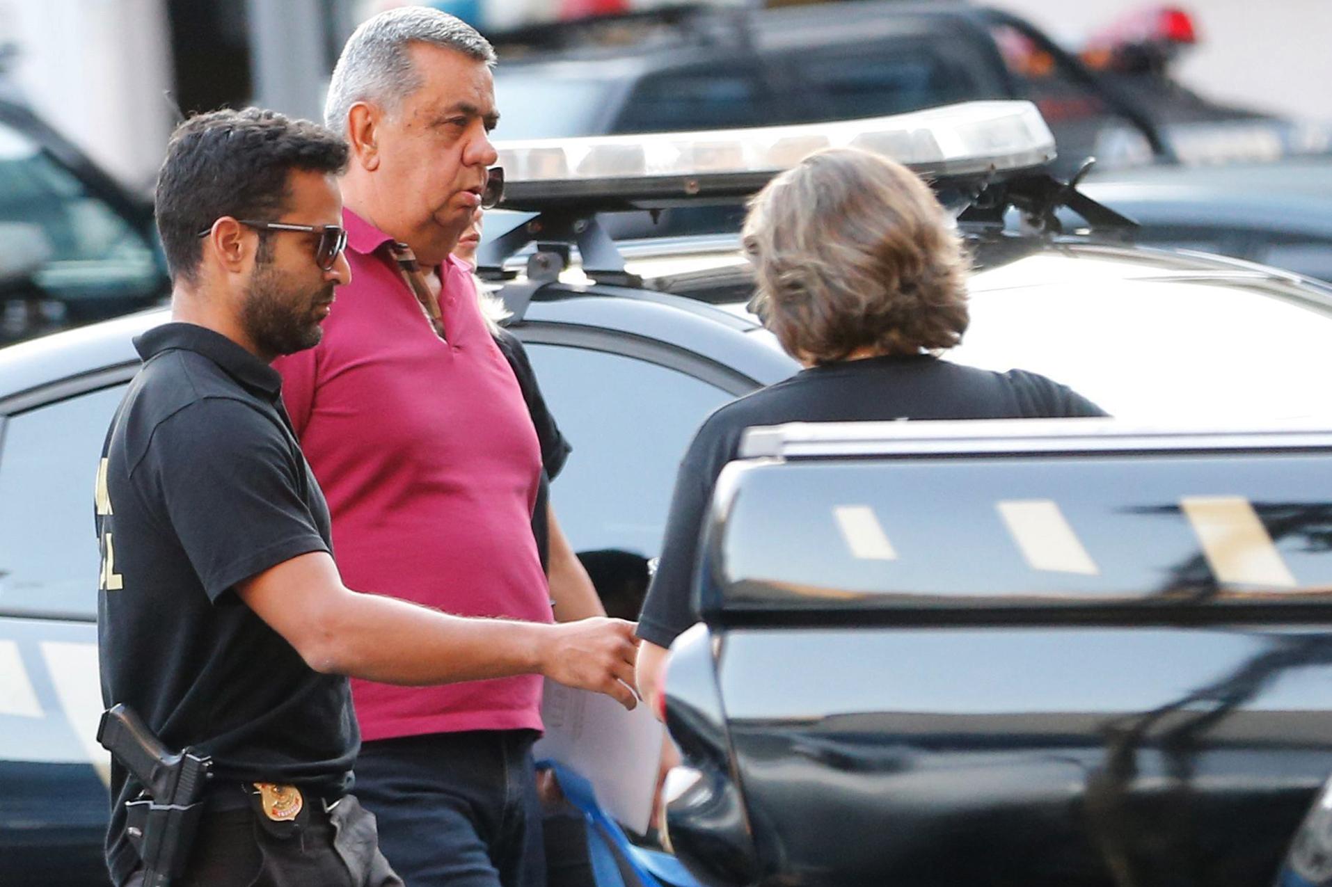 Um dos acusados pelo Ministério Público, Jorge Picciani, sendo preso. Foto: Fernando Frazão/Agência Brasil
