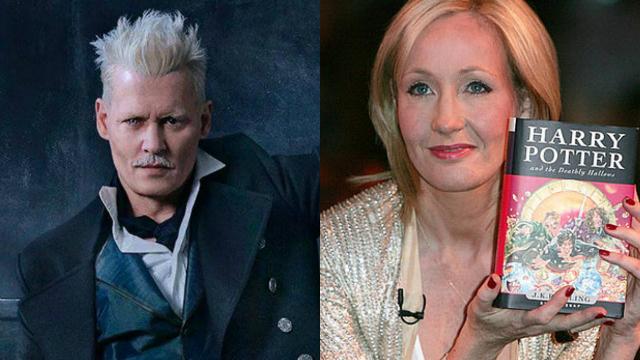 J.K Rowling é a criadora da saga Harry Potter. Foto: Warner e J.K Rowling/Reprodução