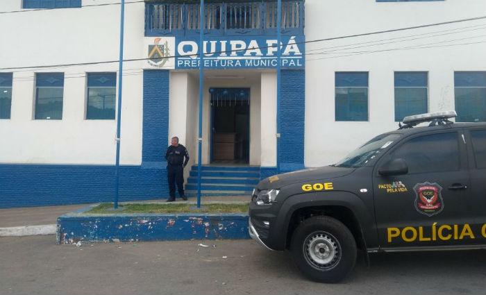 Operação tenta desarticular grupo criminoso que desviou recursos da Prefeitura de Quipapá. Foto: Polícia Civil/ Divulgação