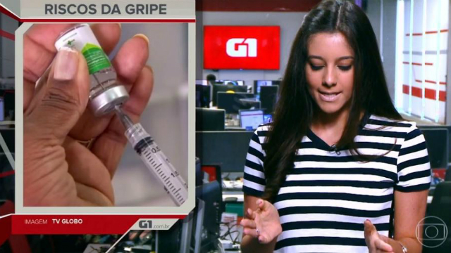 Luiza Tenente apresenta o programa G1 Em 1 Minuto. Foto: Globo/Reprodução