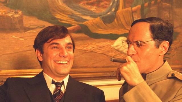 Marco Ricca e Paulo Betti em cena de Chatô. Foto: Guilherme Fontes Filmes/Reprodução
