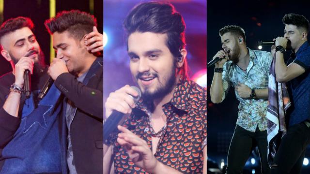 Música sertaneja dominou o pódio do ranking. Foto: Instagram e Multishow/Reprodução