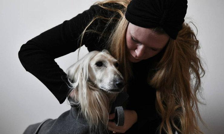 As roupas dos cães são também funcionais: podem protegê-los do frio e cobrir pescoço e orelhas. Foto: Marco Bertorello/AFP