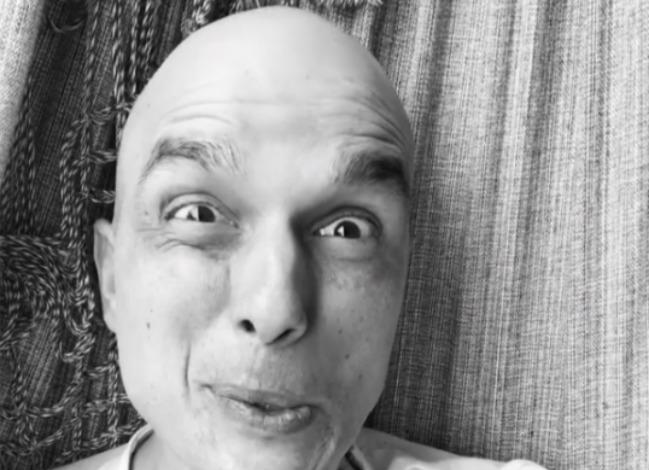 Bem-humorado, ator fez caretas no vídeo. Foto: Instagram/Reprodução
