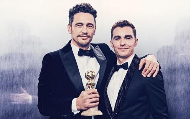 Astro ao lado do irmão, Dave Franco, durante a premiação. Foto: Ramona Rosales/Golden Globes