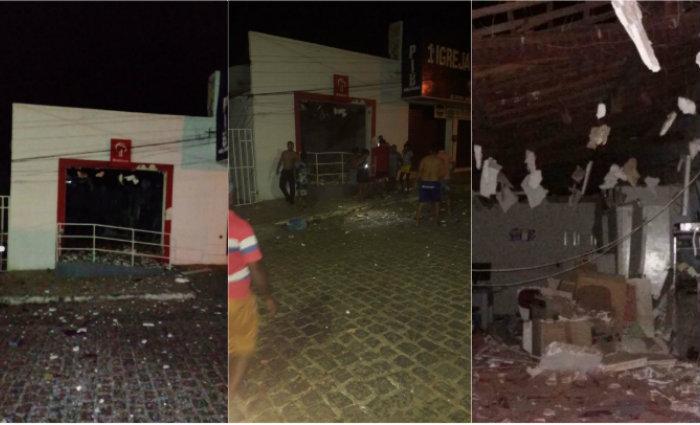 Os criminosos explodiram agências em Pernambuco. Foto: Sindicato dos Bancários/Divulgação