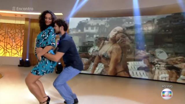 Casal espera a filha Bela e dançou Vai Malandra no programa. Foto: Globo/Reprodução