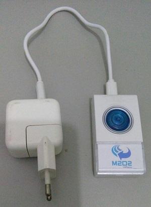 Pequeno, dispositivo pode ser escondido onde o contratante achar mais conveniente. Foto: M2D2/Divulgação (Pequeno, dispositivo pode ser escondido onde o contratante achar mais conveniente. Foto: M2D2/Divulgação)