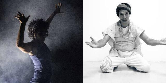 Valéria Vicente e Marconi Bispo, artistas que se apresentam nesta terça no Janeiro de Grandes Espetáculos. Crédito: Juliana Brainer e Ricardo Maciel/Divulgação