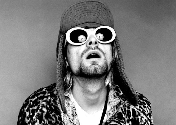 Nos anos 1990 Kurt Cobain trouxe os óculos Koko de volta à mira dos holofotes. Foto: Reprodução da internet