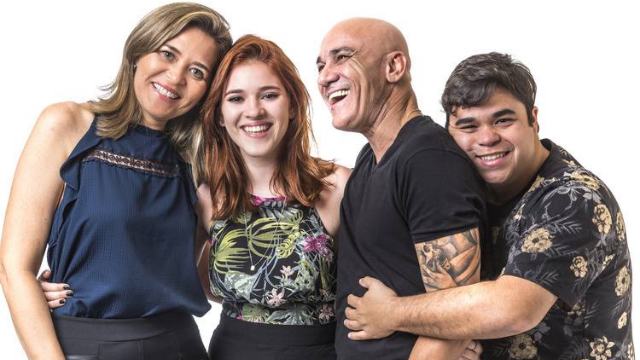 Integrantes da família formam o primeiro paredão da edição. Foto: Globo/Reprodução
