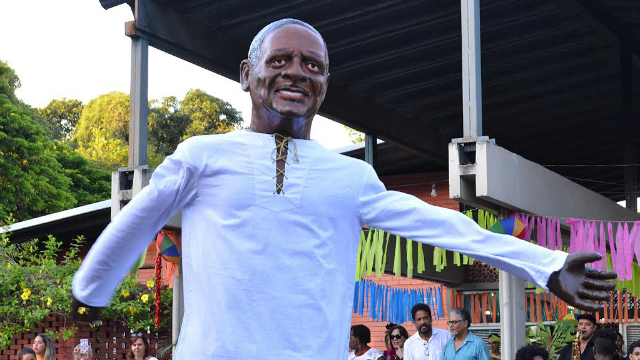 Boneco foi feito por Mestre Camarão, discípulo de Sílvio Botelho por mais de 17 anos. Foto: Ascom UFRPE/Divulgação