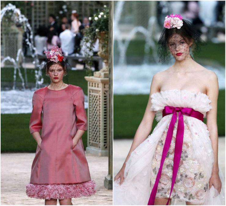 Os tons de rosa predominaram na passarela da Chanel, em Paris. Fotos: Patrick Kovarik/AFP/Divulgação