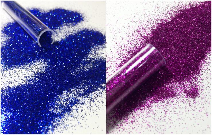 Glitter nos cabelos, fantasias, na pele... Na foto, tubinhos da Vamo Brilhar. Fotos: Vamo Brilhar/Instagram/Reprodução