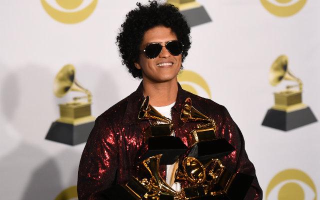 Bruno Mars foi o destaque desta edição da premiação, Foto: Don Emmert/AFP