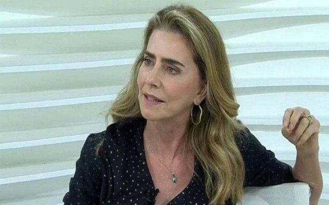 Maitê Proença durante sua participação no programa 'Roda Viva'. Foto: TV Cultura/Reprodução
