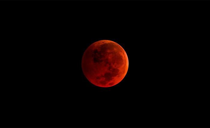 Lua de sangue. Foto: Nasa/Divulgação