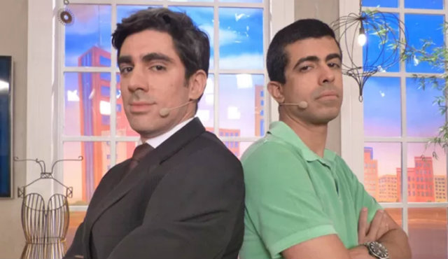 Marcelo Adnet e Marcius Melhem são criadores e atores do humorístico. Foto: Globo/Reprodução