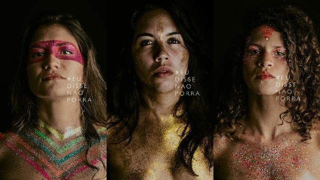 Esposa do fotógrafo, Fabiana Araújo (meio), é uma das mulheres do projeto. Foto: Felipe Lorega/Reprodução