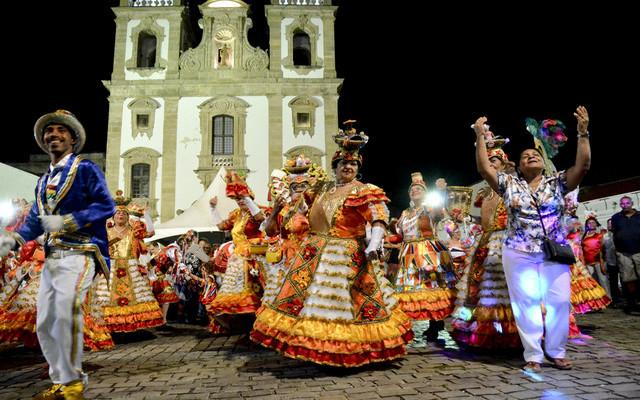 O Ensaio Coletivo das Nações de Maracatu é aberto ao público. Foto: Inaldo Menezes/Divulgação