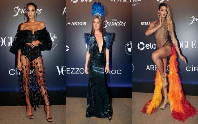 Bruna Marquezine, Marina Ruy Barbosa e Pabllo Vittar ostentam seus looks no Baile da Vogue 2018. Fotos: Instagram/Reprodução