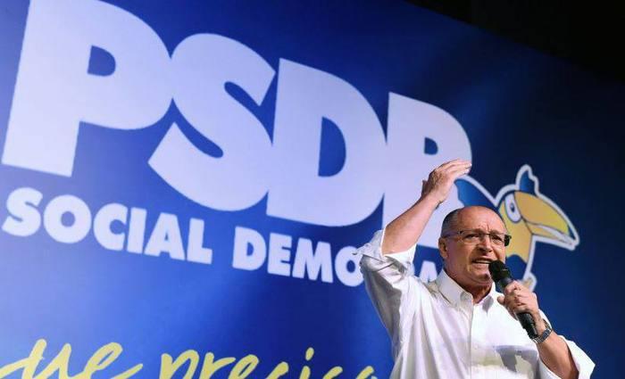 O governador de São Paulo disse ainda que se eleito fará uma intensa parceria com a iniciativa privada. Foto: Evaristo Sa/AFP Photo