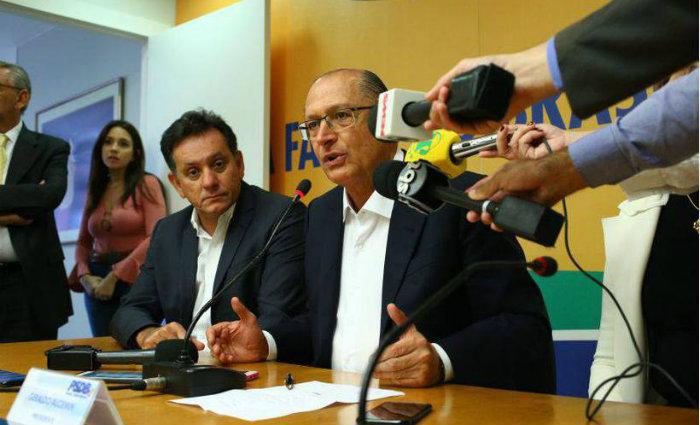"""Alckmin: """"Estamos otimistas com os resultados e achamos que há brechas para avanços. O número de deputados favoráveis ao projeto aumentou"""". Foto: PSDB/Divulgação (Foto: PSDB/Divulgação)"""