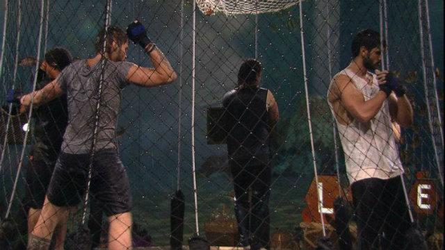 Lucas, Viegas, Breno e Diego restam na competição. Foto: Globo/Reprodução