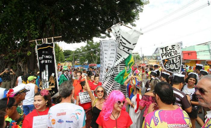 Empatando Tua Vista desfila este ano com habeas corpus preventivo para garantir direitos de expressão e manifestação. Foto: Paulo Paiva/ DP