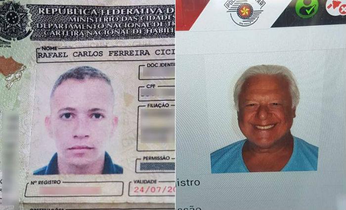 Motorista é preso ao apresentar CNH com dados do ator Antônio Fagundes. Foto: Polícia Militar/Divulgação