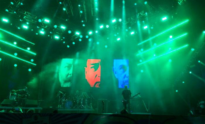 A banda Paralamas do Sucesso também foi um dos destaques na noite deste sábado. Foto: Manuela Cavalcanti/Esp. DP