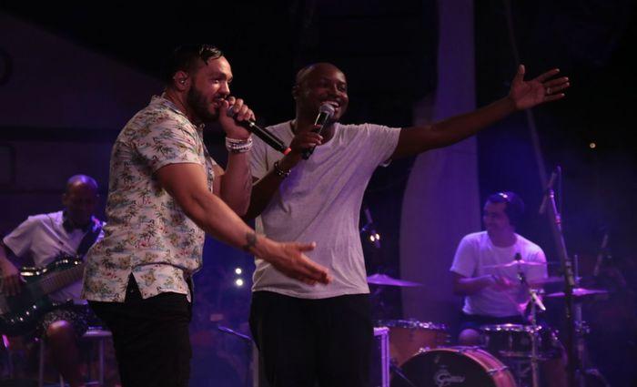 Juntos, os cantores fizeram diversos duetos no primeiro dia do Carnaval do Parador. Foto: Luiz Fabiano