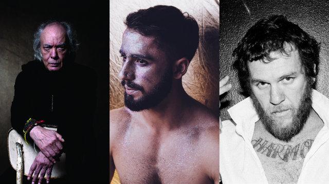 Erasmo, Romero e Otto, principais atrações da noite. Fotos: Gilda Midani, Lana Pinho e Kenza Said/Divulgação