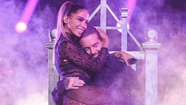 Anitta se apresentou com J Balvin. Foto: Instagram/Reprodução