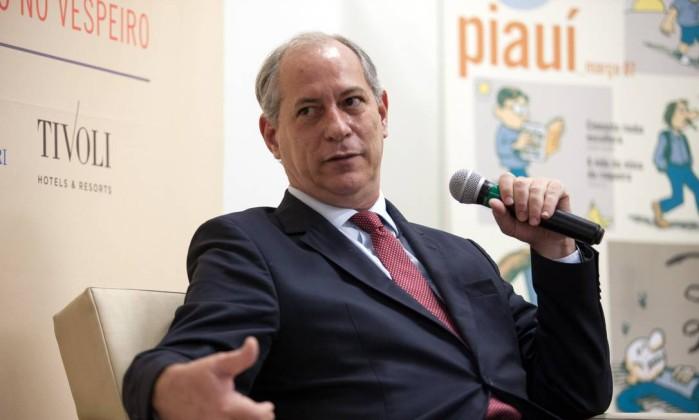 Ciro comentava o encontro que teve com o ex-prefeito de São Paulo Fernando Haddad (PT), no início da semana. Foto Divulgação