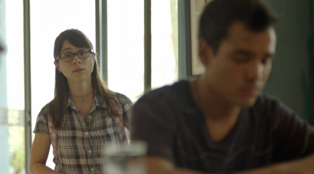 Keyla insiste para que Roney converse com Aldo. Foto: Globo/Divulgação