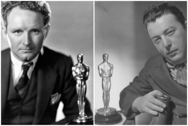 Vencedores dos prêmios de Melhor Diretor: Frank Borzage(esq.) e Lewis Milestone (dir.). Foto: Divulgação/Oscars