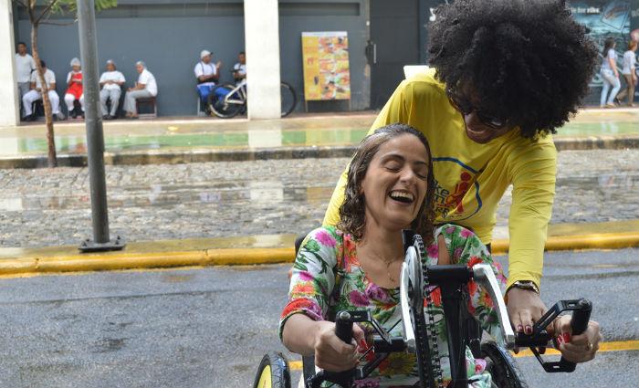 Projeto Bike Sem Barreiras é transferido para o Recife Antigo. Foto: Divulgação