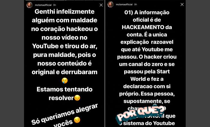 Clipe recém-lançado de MC Loma e Gêmeas Lacração é alvo de hacker e é tirado do ar. Foto: Instagram/Reprodução