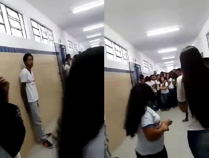 O caso ocorreu na escola Nossa Senhora do Perpétuo Socorro e foi repudiado pela população, que realizou protestos. Foto: Reprodução/Internet