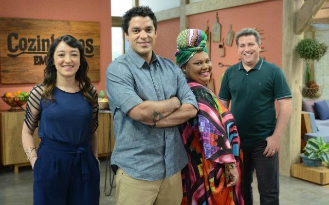 Ligia Karazawa, Thiago Castanho, Carmem e Rusty Marcellini compõem o programa. Foto: GNT/Divulgação