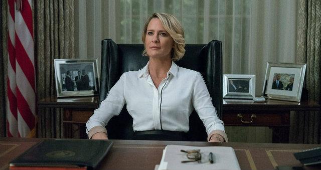 Claire Underwood no salão oval de House of Cards. Foto: Netflix/Reprodução