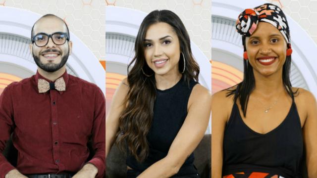 Trio disputa paredão com falsa eliminação. Foto: Globo/Reprodução