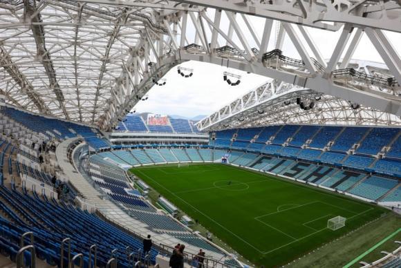 Vista do novíssimo Fisht Stadium, em Sochi, próximo ao Mar Negro 2018. Foto: FIFA World Cup/Vitaly TIMKIV/AFP/Divulgação (Vista do novíssimo Fisht Stadium, em Sochi, próximo ao Mar Negro 2018. Foto: FIFA World Cup/Vitaly TIMKIV/AFP/Divulgação)