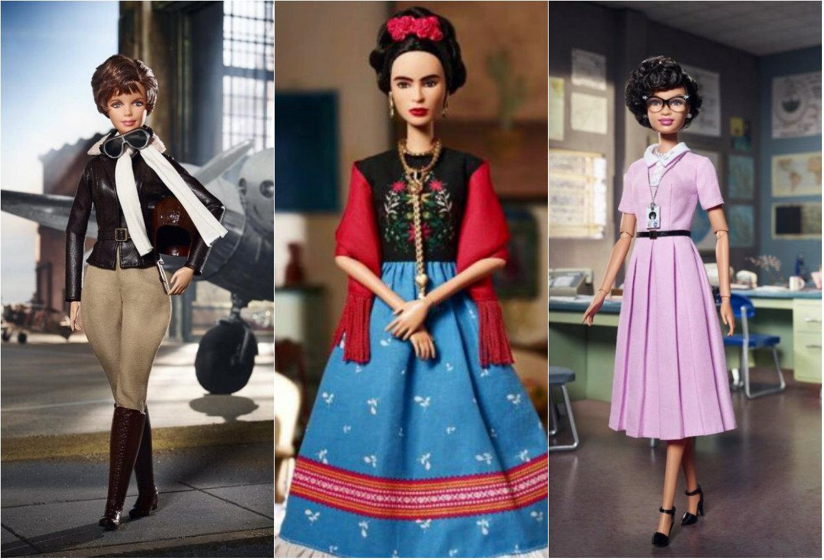 Aviadora, pintora, cientista: vidas reais inspiram nova coleção. Foto: Mattel/Divulgação
