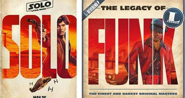 Comparação dos cartazes gerou polêmica na internet. Fotos: Instagram/Reprodução